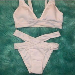 Zaful White Bikini